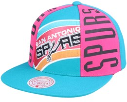 San Antonio Spurs Big Face Callout Hwc Teal Snapback - Mitchell & Ness
