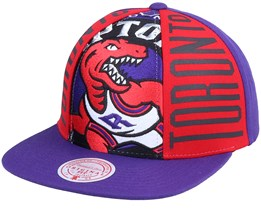 Toronto Raptors Big Face Callout Hwc Purple Snapback - Mitchell & Ness