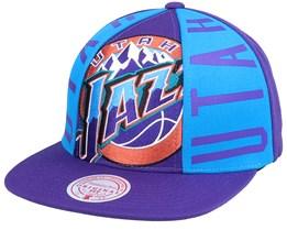 Utah Jazz Big Face Callout Hwc Purple Snapback - Mitchell & Ness