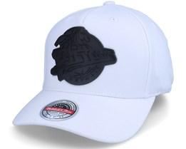 Detroit Pistons Casper Stretch HWC White Adjustable - Mitchell & Ness