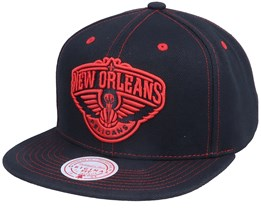 New Orleans Pelicans Contrast Stitch Black Snapback - Mitchell & Ness