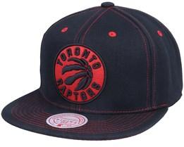 Toronto Raptors Contrast Stitch Black Snapback - Mitchell & Ness