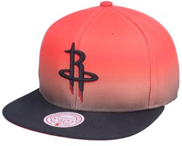 Houston Rockets Color Fade Red/Black Snapback - Mitchell & Ness