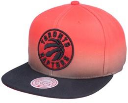 Toronto Raptors Color Fade Red/Black Snapback - Mitchell & Ness