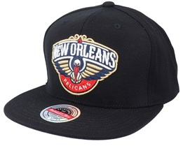 New Orleans Pelicans Downtime Stretch Black Snapback - Mitchell & Ness
