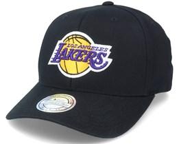 LA Lakers Team Logo HWC Black Adjustable - Mitchell & Ness