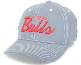 Chicago Bulls Reflective Stripe Grey/Red Adjustable - Mitchell & Ness