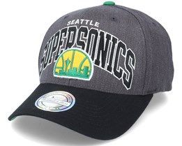 Seattle Supersonics G2 Arch Charcoal/Black 110 Adjustable - Mitchell & Ness