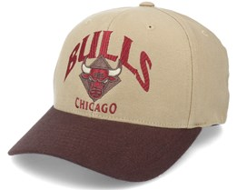 Chicago Bulls Embrace Tan/Brown 110 Adjustable - Mitchell & Ness