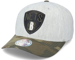 Brooklyn Nets Heather Grey/Camo 110 Adjustable - Mitchell & Ness