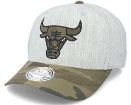 Chicago Bulls Heather Grey/Camo 110 Adjustable - Mitchell & Ness