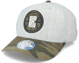 LA Clippers Heather Grey/Camo 110 Adjustable - Mitchell & Ness
