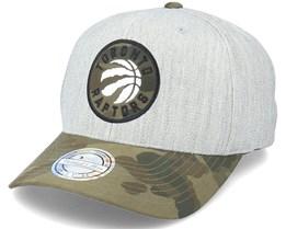 Toronto Raptors Heather Grey/Camo 110 Adjustable - Mitchell & Ness