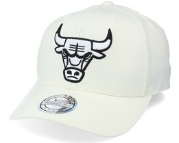 Chicago Bulls White/White Logo - Mitchell & Ness