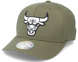Chicago Bulls Black/White Logo Olive 110 Adjustable - Mitchell & Ness