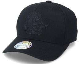 Toronto Raptors Black/White Logo Black 110 Adjustable - Mitchell & Ness