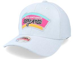San Antonio Spurs Spot Lights Stretch Hwc Grey Adjustable - Mitchell & Ness