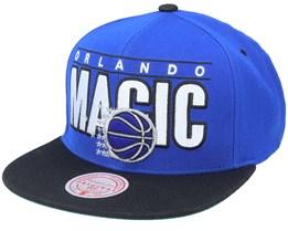 Orlando Magic Billboard Classic Hwc Blue/Black Snapback - Mitchell & Ness