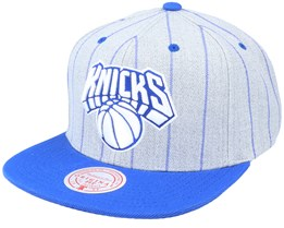 New York Knicks Grey Pin Pop Heather Grey Snapback - Mitchell & Ness