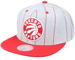 Toronto Raptors Grey Pin Pop Heather Grey Snapback - Mitchell & Ness