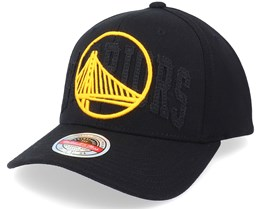 Golden State Warriors Double Triple Stretch Hwc Black Adjustable - Mitchell & Ness