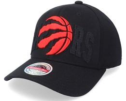 Toronto Raptors Double Triple Stretch Hwc Black Adjustable - Mitchell & Ness