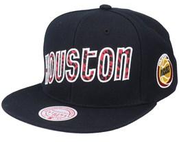 Houston Rockets Wildback Hwc Black Snapback - Mitchell & Ness