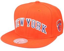 New York Knicks Wildback Hwc Orange Snapback - Mitchell & Ness