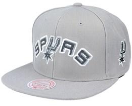 San Antonio Spurs Wildback Hwc Grey Snapback - Mitchell & Ness