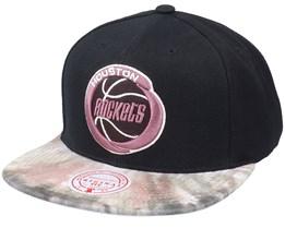 Houston Rockets BlitzedHwc Black Snapback - Mitchell & Ness