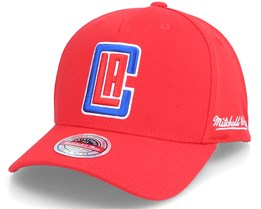 LA Clippers Dropback Solid Red Adjustable - Mitchell & Ness