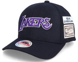 LA Lakers The Jockey Black Adjustable - Mitchell & Ness