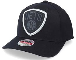 Brooklyn Nets Brooklyn Nets Levels Snapback Black - Mitchell & Ness