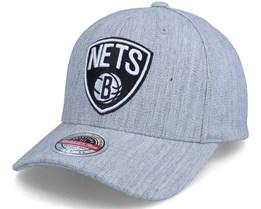 Brooklyn Nets Team Heather Grey Heather Grey Adjustable - Mitchell & Ness