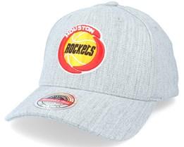 Houston Rockets Team Heather Grey Adjustable - Mitchell & Ness