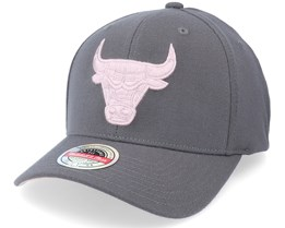 Chicago Bulls Pink Cast Charcoal Grey Adjustable - Mitchell & Ness