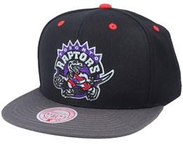 Toronto Raptors Xl Iridescent Black Snapback - Mitchell & Ness