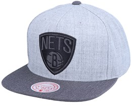 Brooklyn Nets Dual Heather Grey Snapback - Mitchell & Ness