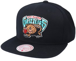 Vancouver Grizzlies Solid Black Snapback - Mitchell & Ness