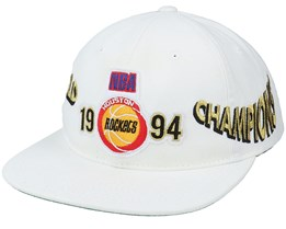 Houston Rockets Champs Deadstock White Snapback - Mitchell & Ness