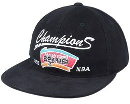San Antonio Spurs Champs Deadstock Black Snapback - Mitchell & Ness