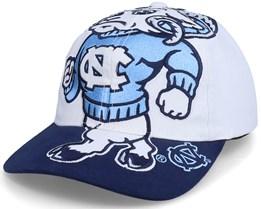 U. Of North Carolina Ncaa Big Logo Deadstock White/Navy Adjustable - Mitchell & Ness