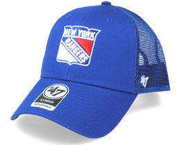 New York Rangers Branson Mvp Royal/White Trucker - 47 Brand