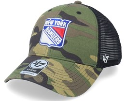 New York Rangers Camo Branson Mvp Camo Trucker - 47 Brand
