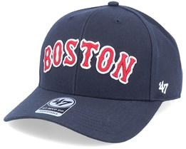 Boston Red Sox Mvp DP Chain Link Script Navy/Red Adjustable - 47 Brand