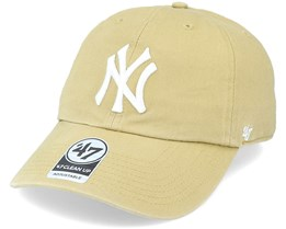 New York Yankees Clean Up Dad Cap Old Gold Adjustable - 47 Brand
