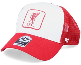 Hatstore Exclusive Liverpool FC Red/White Trucker Patch - 47 Brand