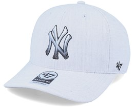 Hatstore Exclusive New York Yankees Falton Grey DP Adjustable - 47 Brand
