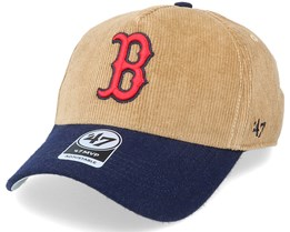 Boston Red Sox Corduroy Mvp DT Khaki/Navy Adjustable - 47 Brand