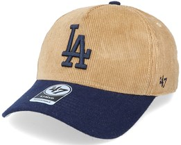 Los Angeles Dodgers Corduroy Mvp DT Khaki/Navy Adjustable - 47 Brand